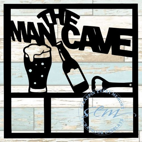 The Man Cave Scrapbook Overlay