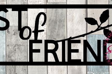 Best Of Friends Scrapbook Title