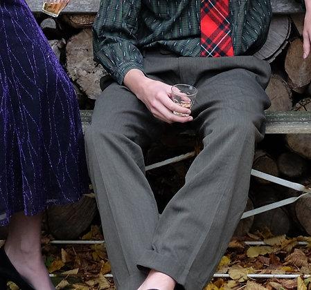 Pantalon wol donkergroen 52