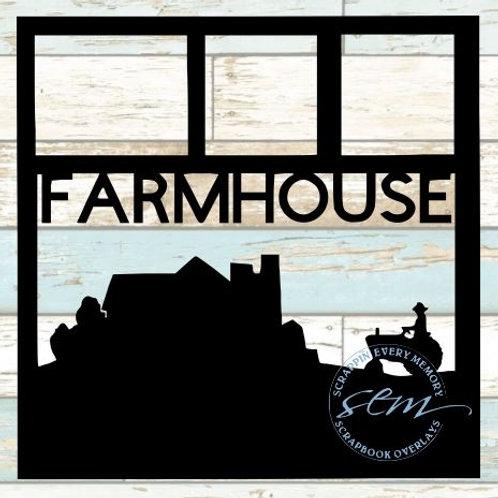 Farmhouse Scrapbook Overlay