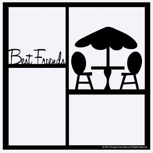 Best Friends Scrapbook Overlay