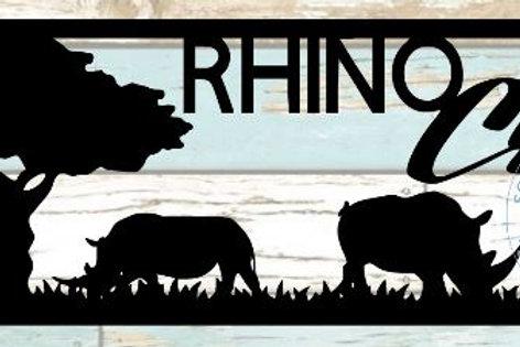 Rhino Crash Scrapbook Title