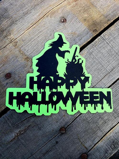 Happy Halloween Paper Piecing Die Cut