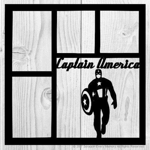 Captain America Scrapbook Overlay