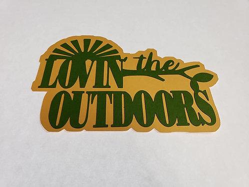 Lovin' The Outdoors Paper Piecing Die Cut