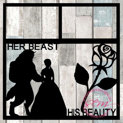 Her Beast His Beauty Scrapbook Overlay
