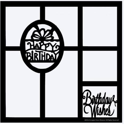 Birthday Wishes Scrapbook Overlay