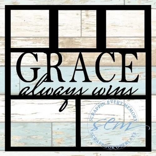 Grace Always Wins Scrapbook Overlay