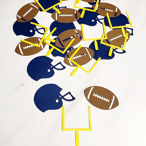 Football Scrapbook Page Confetti