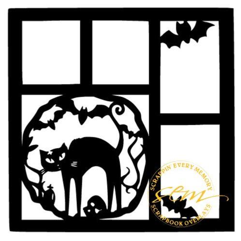 Halloween Cat Scrapbook Overlay
