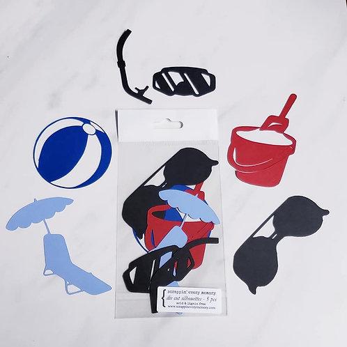 Beach Die Cut Silhouette Mini Set