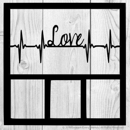 Love Heartbeat Scrapbook Overlay