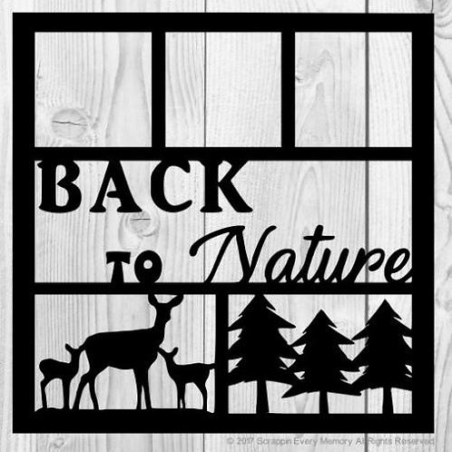 Back To Nature Scrapbook Overlay