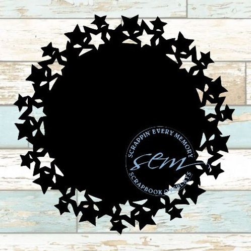 Star Cluster Circle Scrapbook Overlay