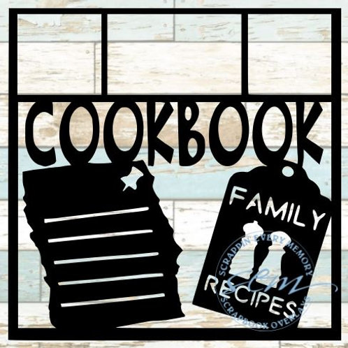 Cookbook Scrapbook Overlay