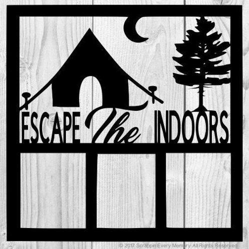 Escape The Indoors Scrapbook Overlay