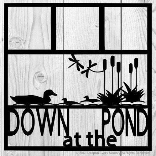 Down At The Pond Scrapbook Overlay