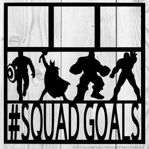 Superhero Squadgoals Scrapbook Overlay