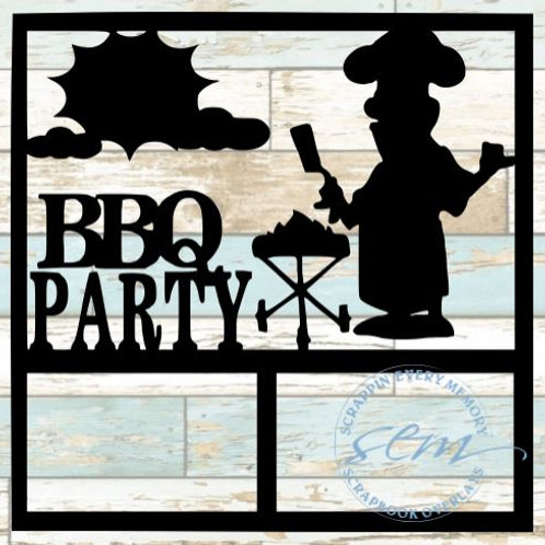 BBQ Party Scrapbook Overlay