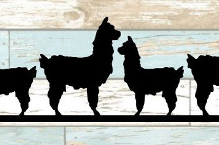 Llamas Scrapbook Border