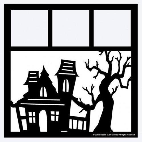 Haunted House Scrapbook Overlay