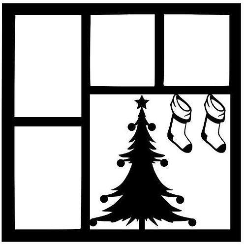 Christmas Tree Scrapbook Overlay