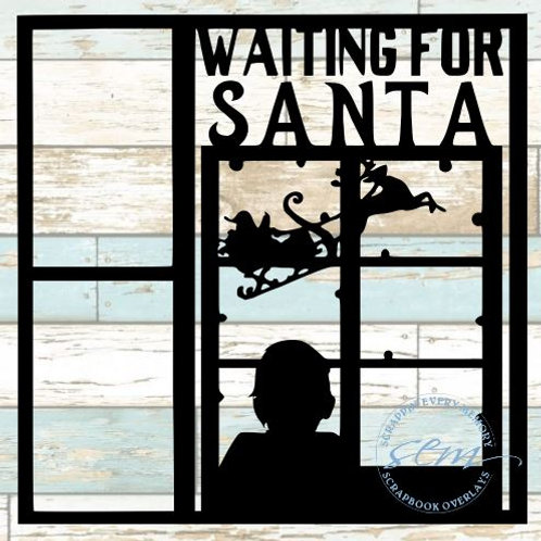 Waiting For Santa Scrapbook Overlay