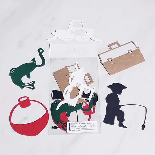 Fishing Die Cut Silhouette Mini Set