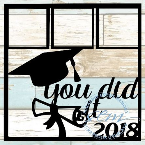 You Did It 2018 Scrapbook Overlay