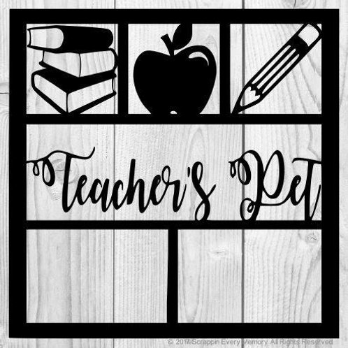 Teacher's Pet Scrapbook Overlay