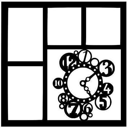 Steampunk Time Scrapbook Overlay