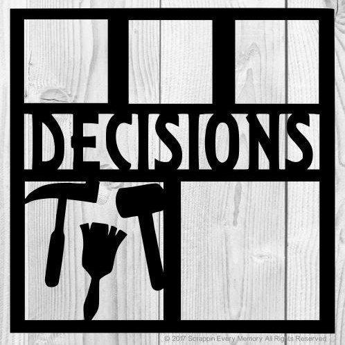 Decisions Scrapbook Overlay