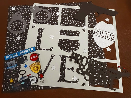 Police Scrapbook Page Kits