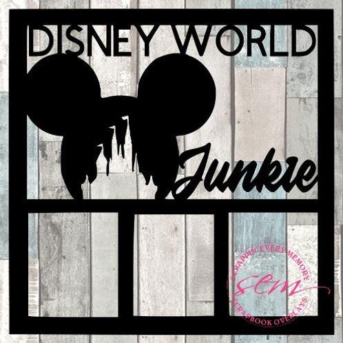 Disney World Junkie Scrapbook Overlay