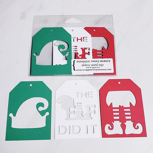 Christmas Elf Deluxe Word Tags