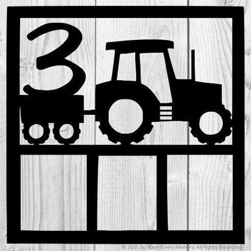 Tractor Scrapbook Overlay
