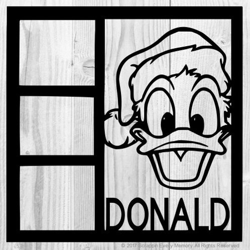 Donald Duck Scrapbook Overlay