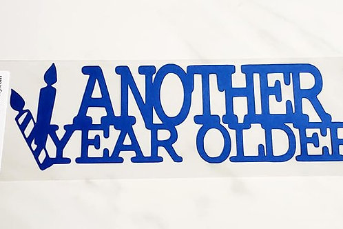 Another Year Older Scrapbook Deluxe Die Cut