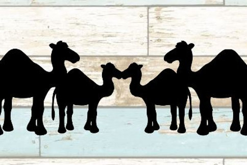 Camels Scrapbook Border