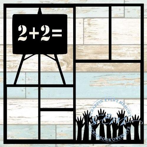 School 2+2 Scrapbook Overlay