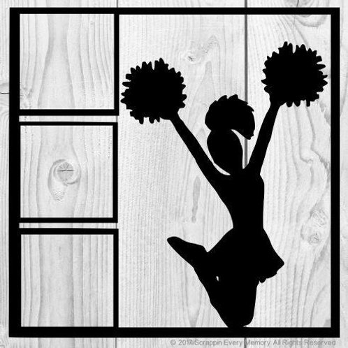Cheerleader Scrapbook Overlay