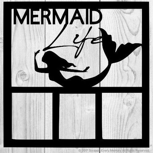 Mermaid Life Scrapbook Overlay