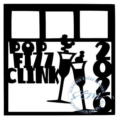 Pop Fizz Clink Scrapbook Overlay