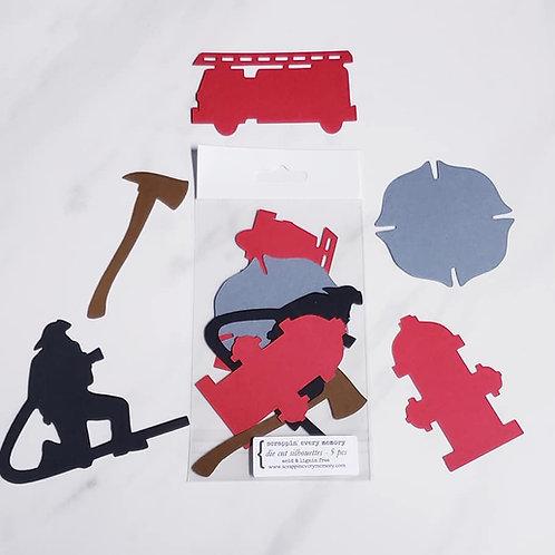 Fireman Die Cut Silhouette Mini Set