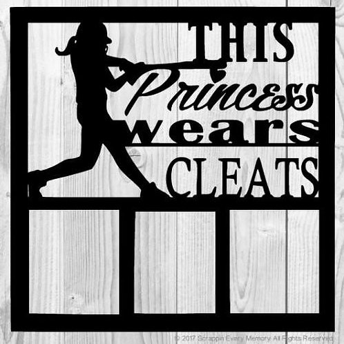 This Princess Wears Cleats Scrapbook Overlay