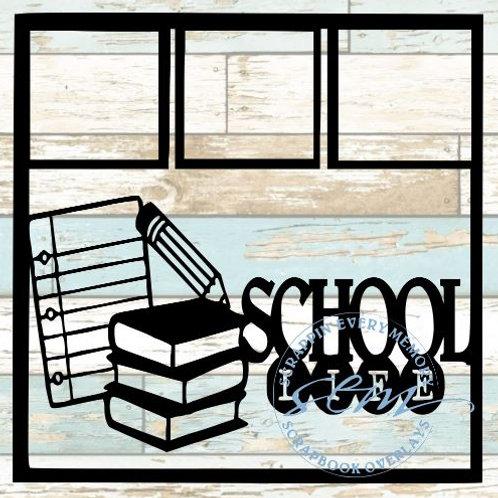 School Life Scrapbook Overlay