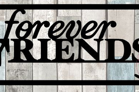 Forever Friends Scrapbook Title