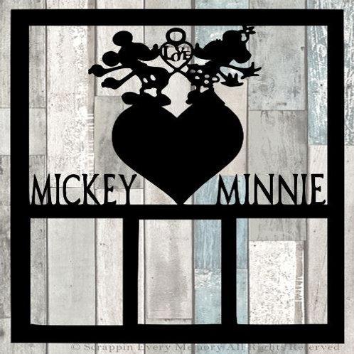 Mickey Minnie Scrapbook Overlay