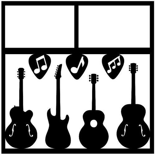 Guitars Scrapbook Overlay