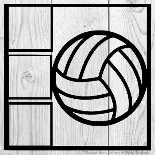 Volleyball Scrapbook Overlay